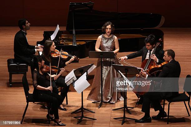 The soprano Jennifer Zetlan performing at Alice Tully Hall on Thursday night, November 29, 2012.This image:The soprano Jennifer Zetlan with the...