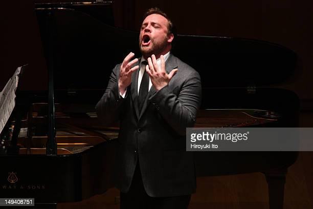 The soprano Lisette Oropesa and the baritone Brian Mulligan performing at the Morgan Library Museum on Sunday afternoon April 1 2012Ken Noda is the...