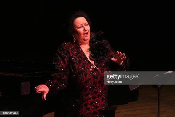 The soprano Montserrat Caballe, accompanied by the pianist Manuel Burgueras, performing at Avery Fisher Hall on Friday night, February 14, 2009.