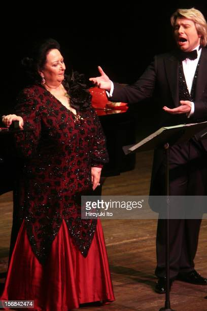 The soprano Montserrat Caballe and the tenor Nikolay Baskov accompanied by the pianist Manuel Burgueras performing at Avery Fisher Hall on Friday...