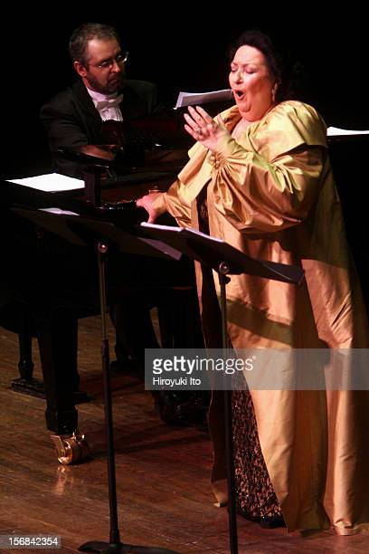 The soprano Montserrat Caballe performing at Avery Fisher Hall on Friday night February 14 2009 Manuel Burgueras was the pianist
