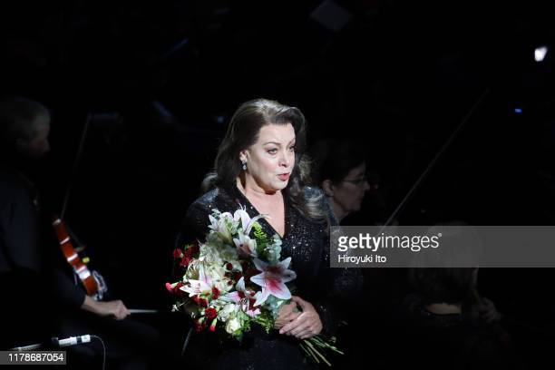 """The soprano Nina Stemme performing Schoenberg's """"Erwartung"""" with the New York Philharmonic at David Geffen Hall on Thursday night, September 26, 2019."""