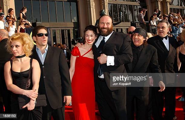 'The Sopranos' cast Michael Imperioli his wife Victoria James Gandolfini with unidentified companion and Steve Van Zandt attend the 9th Annual Screen...