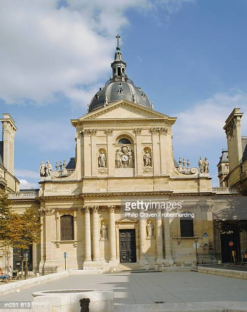 the sorbonne, paris, france, europe - university of paris stock photos and pictures