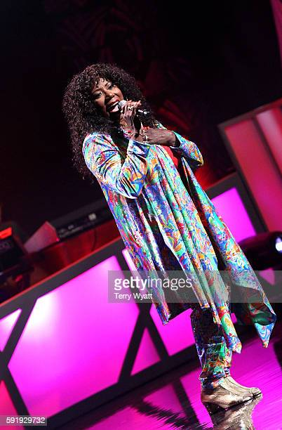 The SOS Band's Mary Davis performs during the NMAAM 2016 Black Music Honors on August 18 2016 in Nashville Tennessee
