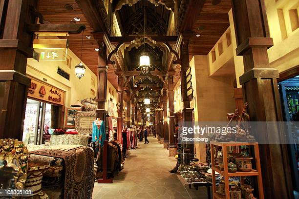 The Souk Madinat a market place with craft shops inside the Madinat Jumeirah resort operated by the Jumeirah Group LLC is seen in Dubai United Arab...