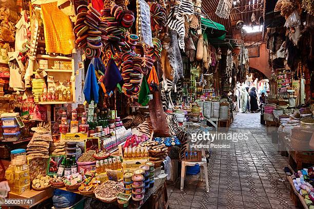 the souk of marrakech, morocco - souk stock pictures, royalty-free photos & images