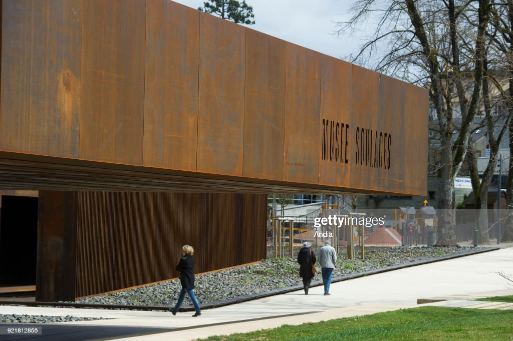The Soulages Museum in Rodez, contemporary art museum dedicated to the work of French abstract artist Pierre Soulage, architecture by 'RCR arquitectes' and Passelac & Roques.