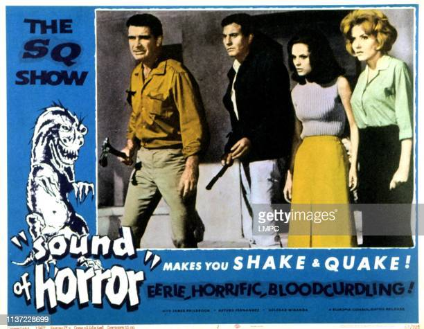 The Sound Of Horror lobbycard Arturo Fernandez James Philbrook Soledad Miranda Ingrid Pitt 1966