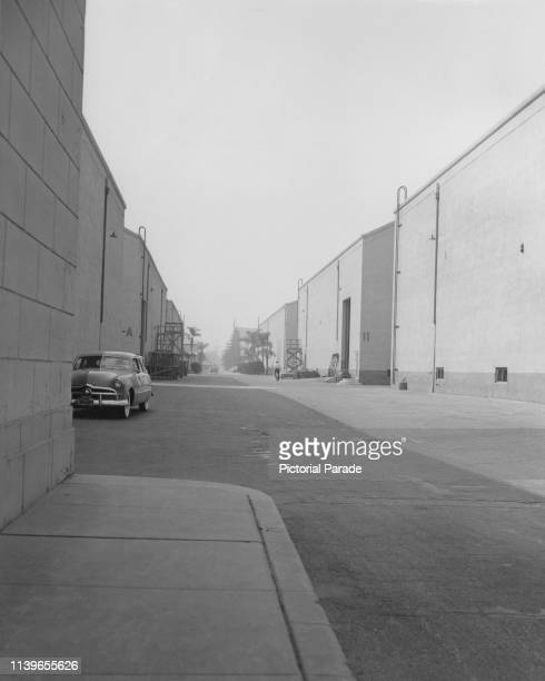 The sound stages at the Warner Bros studios in Burbank, California, circa 1950.