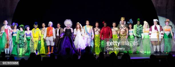 The Soundstage Live Little Mermaid Cast pose for cast photo following the opening night performance at the New Interactive Live Stage Show Of...