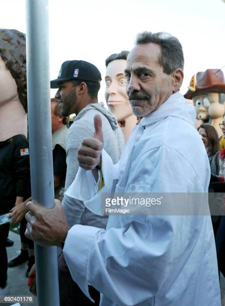 The Soup Nazi marches with Preservation Hall Jazz Band during Colossal Clusterfest at Civic Center Plaza and The Bill Graham Civic Auditorium on June...