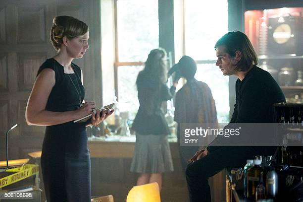 THE MAGICIANS 'The Source of Magic' Episode 102 Pictured Anne Dudek as Professor Sunderland Jason Ralph as Quentin