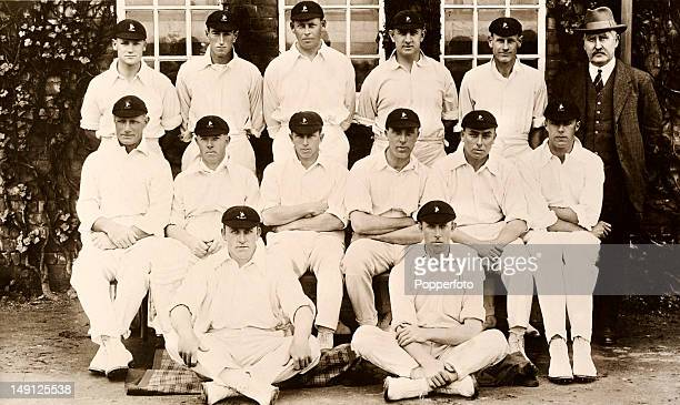 The South Africa cricket team during their tour of England circa June 1924 Back row Bob Catterall Hubert 'Nummy' Deane Cecil Dixon Philip Hands Tommy...