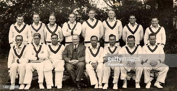 The South Africa cricket team during their tour of England circa May 1935 Back row Robert Williams Ken Viljoen Eric Rowan Denis Tomlinson Bob Crisp...