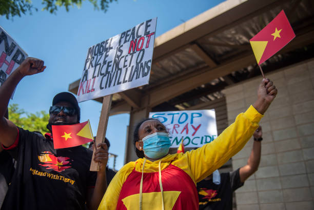ZAF: Tigray and Ethiopian community protest outside DIRCO offices in South Africa