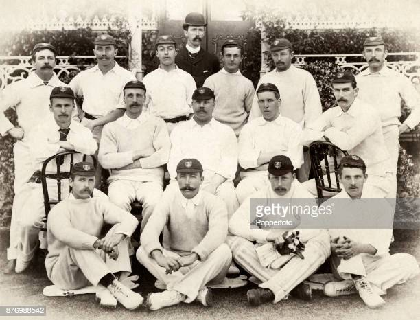 The South African Cricket Team prior to their match against Lord Sheffield's XI at Sheffield Park near Uckfield in Sussex on 22nd May 1894 The...
