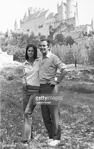 The South African surgeon and cardiologist Christiaan Barnard and and his wife Barbara in Segovia Castilla y Leon Spain