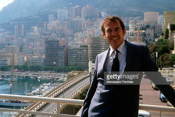 The South African surgeon Christiaan Neethling Barnard smiling on a terrace Monte Carlo October 1981