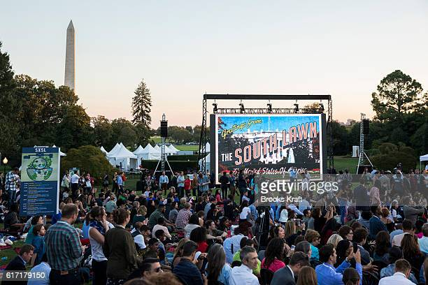 The 'South By South Lawn' SXSL festival on October 3 2016 in Washington DC The White House Festival was billed to celebrate ideas art and action...