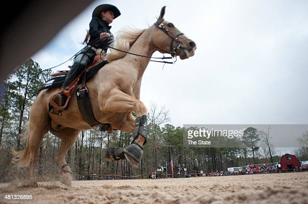 The South Carolina Equestrian team competes in the SEC championships against Georgia at One Wood Farm in Blythewood SC Saturday March 29 2014