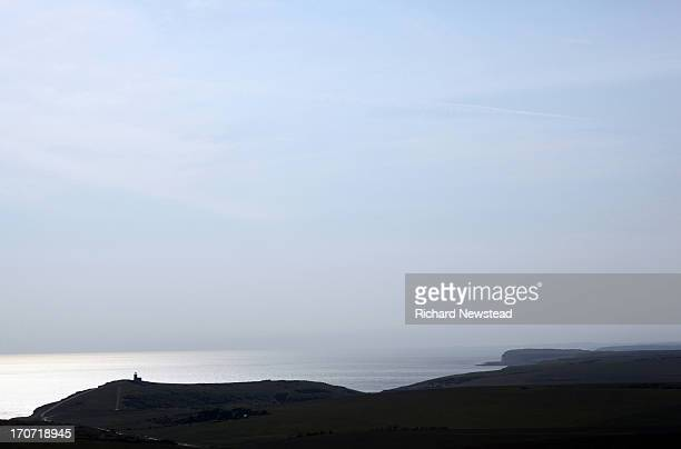 the south downs - belle tout lighthouse stock photos and pictures
