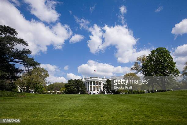 The south facade of the White House in Washington DC