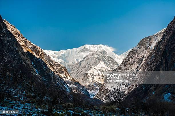 The south face of Annapurna I one of six major peaks of the Annapurna massif