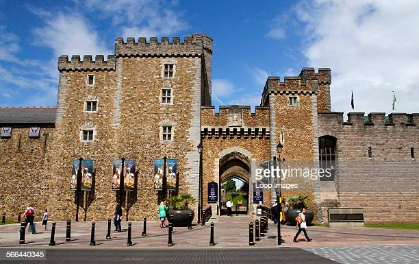 The South Gate and Black Tower with the Barbican Tower comprise the present day entrance to Cardiff Castle