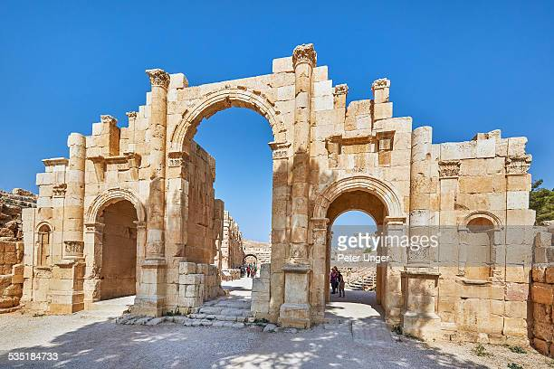 The South Gate and City wall of Jerash