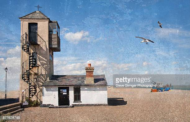 the south lookout, aldeburgh - aldeburgh stock photos and pictures