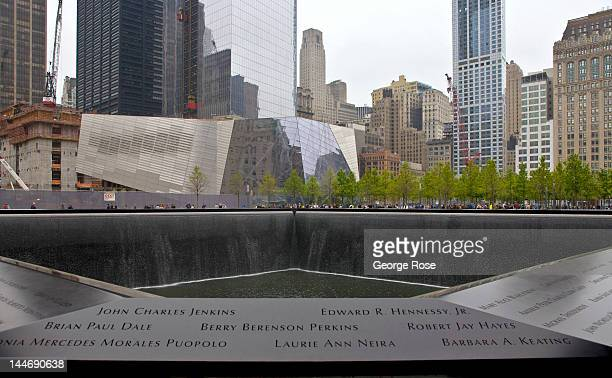 The South Pool at the 9/11 Memorial is viewed on May 5 2012 in New York City The eclectic neighborhoods and important historical landmarks of New...