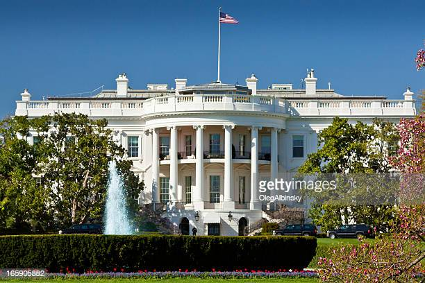 the south portico of the white house. washington dc, usa. - white house stock pictures, royalty-free photos & images