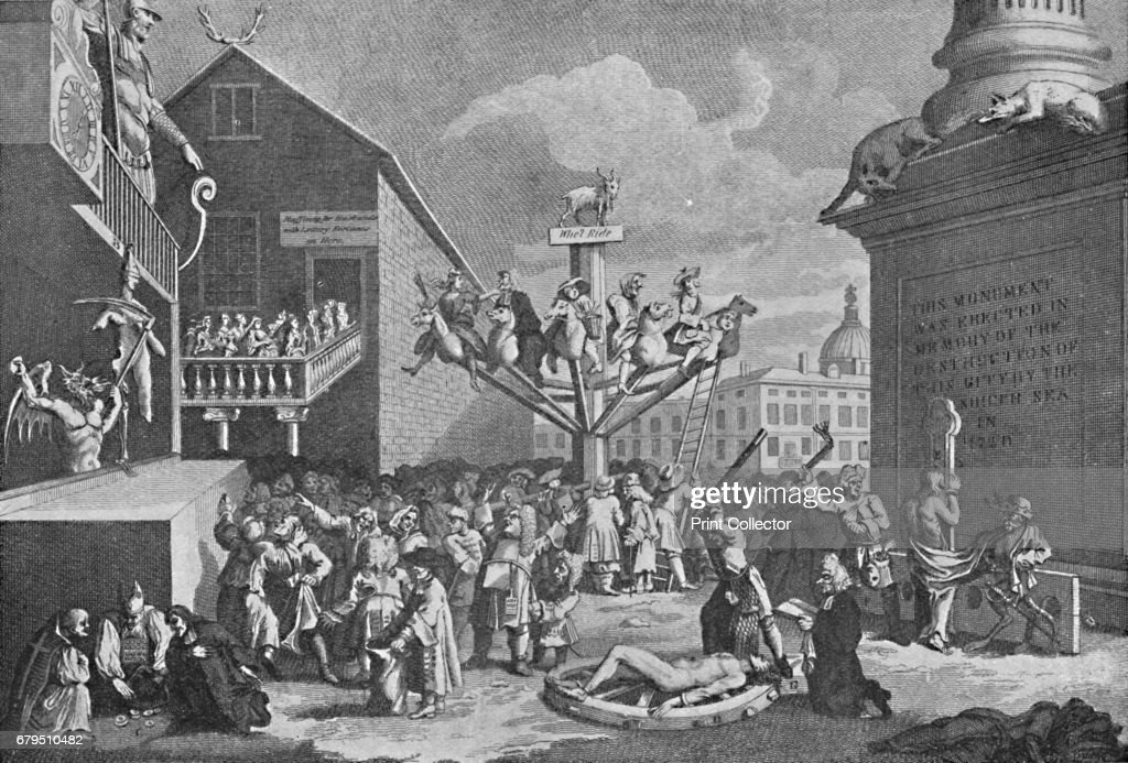 The South Sea Bubble From A Print By William Hogarth 1721 : Nachrichtenfoto