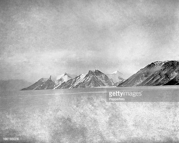 The south side of the Ferrar Glacier taken during the last tragic voyage to Antarctica by Captain Robert Falcon Scott and his crew among them...