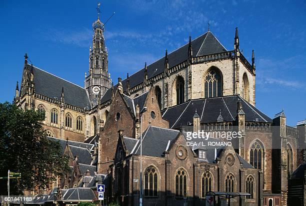 The southeastern side of St Bavokerk Church or Grote Kerk Haarlem Netherlands 15th century