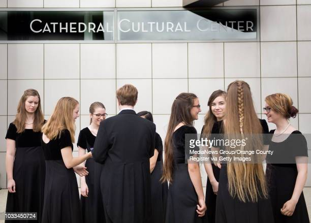The Southern California Children's Chorus gathers at Christ Cathedral for a teo hour service honoring Crystal Cathedral founder Robert H. Schuller....