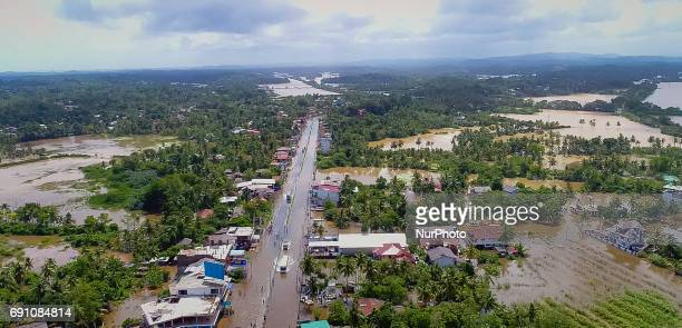 The Southern Highway and the houses near by are seen submerged by flood water near Godagama Matara southern part of Sri Lanka on Thursday 1 June 2017...