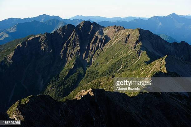 NANTOU COUNTY TAIWAN The southern peak of Yu Shan Mountain range seen from Yu Shan Main Peak