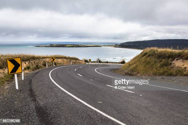 the Southern Scenic road near Invercargill in New Zealand south island