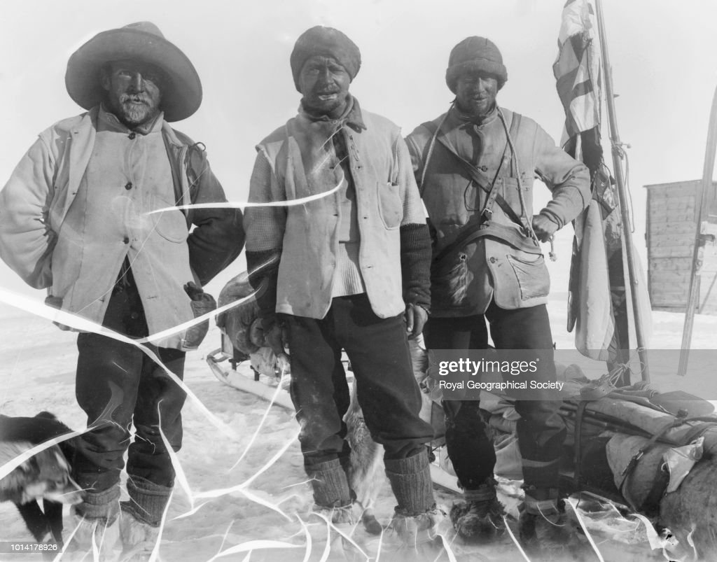 The Southern Sledge Party just returned, Antarctica, 05 February 1903. National Antarctic Expedition 1901-1904.