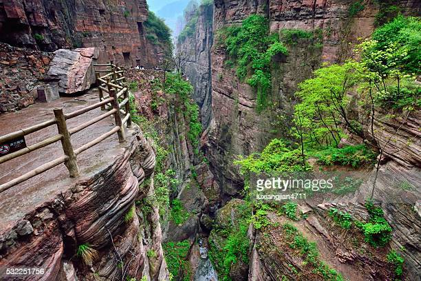 the southern taihang mountains grand canyon 06 - henan province stock photos and pictures