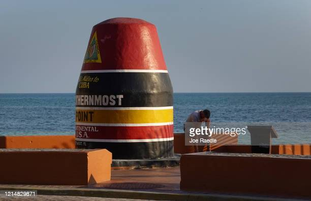 The Southernmost Point Buoy is seen as the city government takes steps to fight the coronavirus outbreak on March 25, 2020 in Key West, Florida. Most...