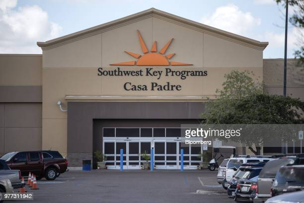 The Southwest KeyCasa Padre Facility formerly a Walmart Inc store stands in Brownsville Texas US on Sunday June 17 2018 Democrats escalated their...