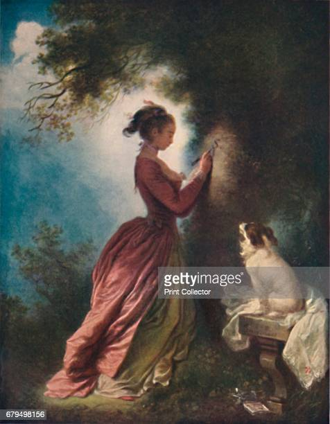 The Souvenir ' c177580 Painting held at The Wallace Collection London From The French Genius by Haldane Macfall [T C and E C Jack London and...