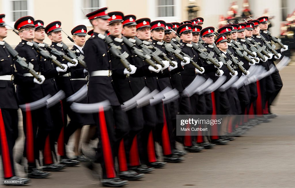 The Sovereign's Parade perfroms at Royal Military Academy