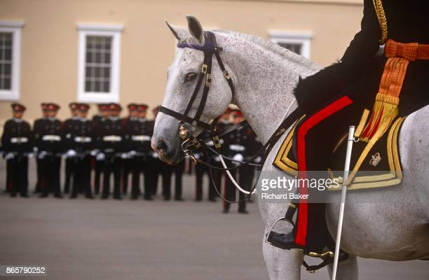 The Sovereigns passingout parade at the Sandhurst Royal Military Academy on 16th June 1996 at Sandhurst England The Royal Military Academy Sandhurst...