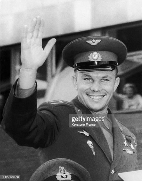 The Soviet spaceman Yuri Gagarin on July 11 1961 in London England