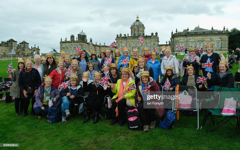 The Sowood Women's Institute members, known as Babes in the Wood pose for a picture as they attend the annual Castle Howard Proms Spectacular concert held on the grounds of the Castle Howard estate on August 19, 2017 in York, England. The outdoor picnic concert celebrated the best of British with a rousing medley of traditional orchestral anthems from the London Gala Orchestra conducted by Stephen Ellery and special guest performances from Brit award winners Blake and soprano Joanne Forest.