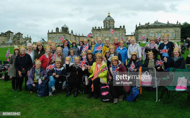 The Sowood Women's Institute members known as Babes in the Wood pose for a picture as they attend the annual Castle Howard Proms Spectacular concert...